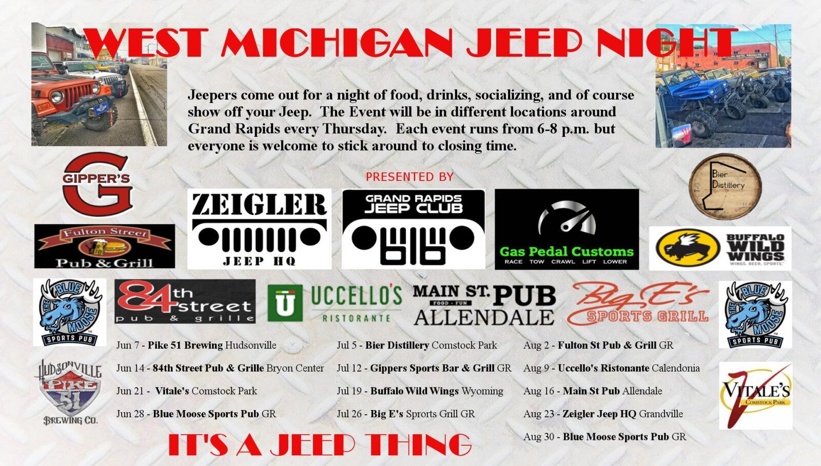 West Michigan Jeep Night - Gas Pedal Customs
