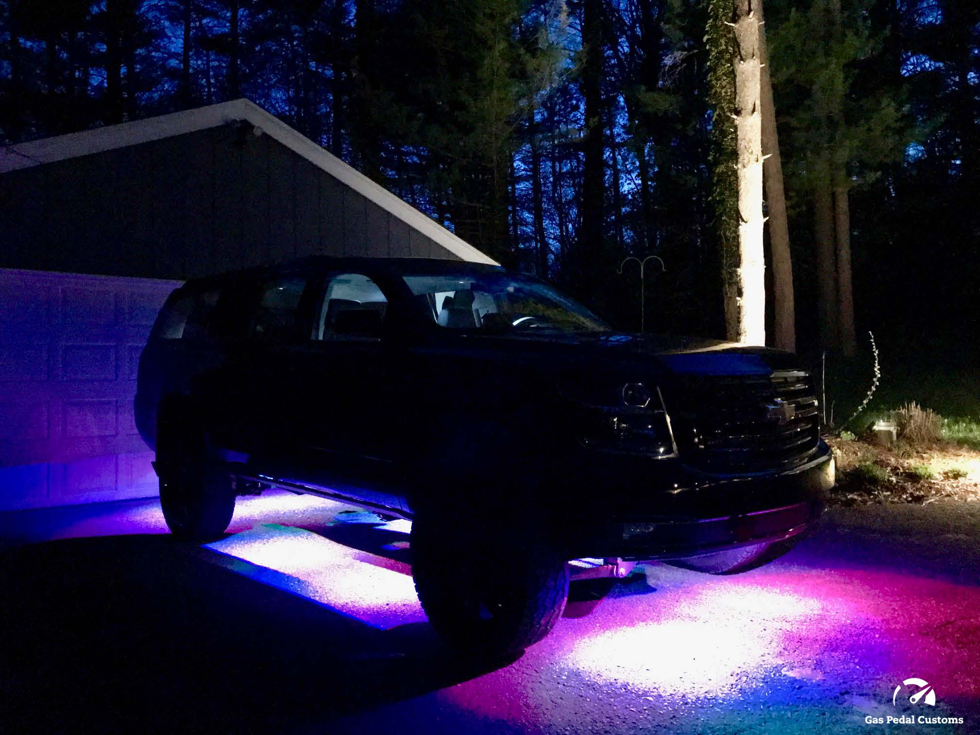 Don't forget the lights! Duramax Suburban shown with Rigid Industries rock lights